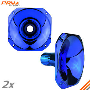 2x Prv Audio Wgp14 25 Blue Cr s 1 Exit Waveguide 1in Driver Screw on Pro Horn