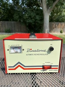 Vintage Binatone Avr 500a Automatic Voltage Regulator 240v Euro Plug