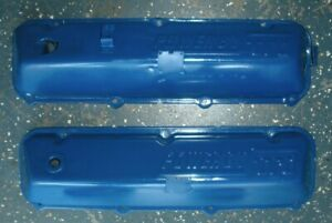 Set Oem Ford Blue 429 460 Powered By Ford Valve Covers 2