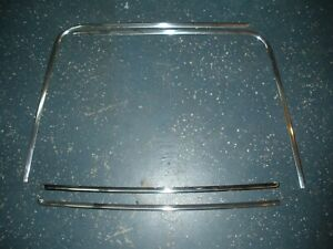 Set Of 1968 1969 Ford Torino Formal Roof Rear Window Trim Molding