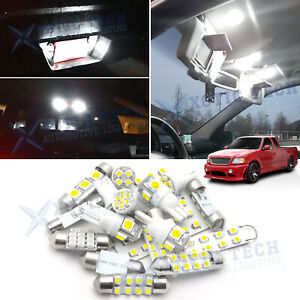 White Led Interior Map Dome Cargo Lights Kit Deal For Ford F150 1997 2003 F 150