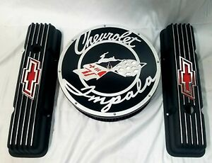 V8 Chevy Small Block Valve Covers And 14 Air Cleaner Filter Impala