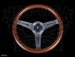 Nardi Classic Wood Steering Wheel 330mm Polished Spokes W Horn 5061 33 3000