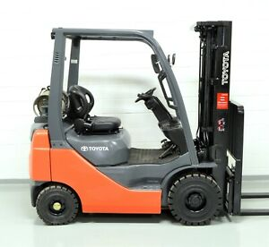 Nice 2015 Toyota 3000 Lb Lpg Pneumatic Forklift Side Shift 8fgu15 Air Tires