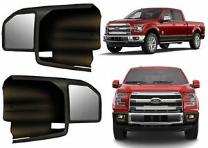 2 Towing Mirrors 2015 2020 F 150 Custom Fit Side Extension Slide On Trailer Boat