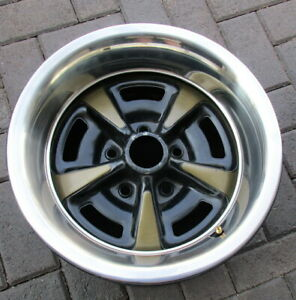Pontiac Steel Rally Wheel Rim 15x8 With Trim Ring In Great Condition