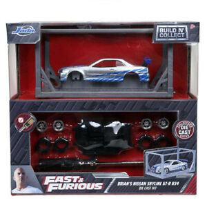 Jada Fast amp; Furious Build n Collect Kit Brian#x27;s Nissan Skyline GT R 1 55 Scale $13.95