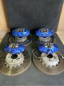 15 20 Bmw F80 F82 F83 F87 M2 M3 M4 Big Brake Kit Bbk Calipers Rotors Blue Set