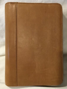 Boulder Ridge Leather Classic Zip Planner 1 25 Rings Camel Color Organizer