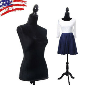 Half length Lady Female Mannequin Torso Dress Clothing Display With Tripod Stand