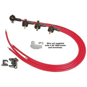 Msd 31689 Universal Spark Plug Wire Set Red Super Conductor 8 5mm New