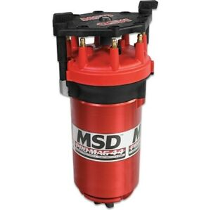 Msd 8130 Pro Mag Generator 44 Amp Clockwise Rotation Standard Red Cap New