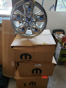 New Nos Set Of 4 20 Inch Wheel Dodge Ram 1500 2002 2005 New In Box 52110356ac