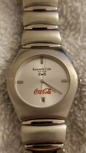 Kennith Cole Rare Coca Cola Watch Employee Reward Stainless Steel Bracelet