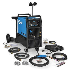Miller Multimatic 235 Multiprocess Welder W dual Cyl Cart And Tig Kit 951847