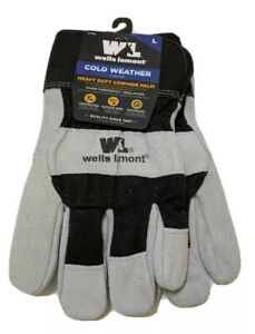 New Wells Lamont Warm Thermofill Cold Weather Gloves Size Large Leather Gloves