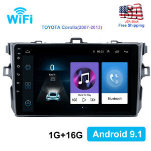 9 Android 9 1 Car Stereo Fm Radio Gps Navigation For Toyota Corolla 2006 2012