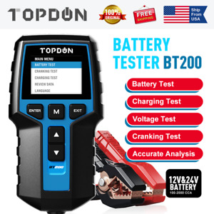 Car Battery Tester 12v 24v Cranking Charging System Auto Scan Tool 100 2000cca