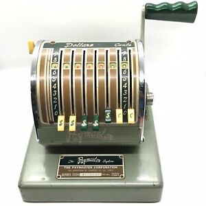 Vintage Paymaster System Check Writer Model Series S550 Working