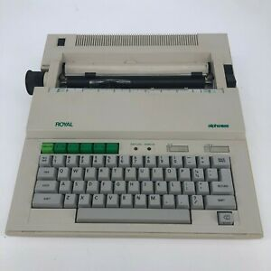 Royal Alpha 100 Typewriter With Cover
