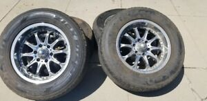 Tires Rims Fits Gmc Chevy And Cadillac Trucks And Suv S 285 60r 18 Set Of 4