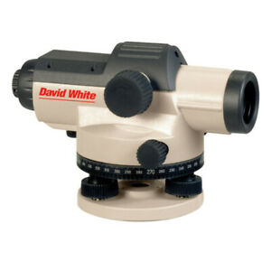 David White Automatic Level With Tripod And Rod 32x