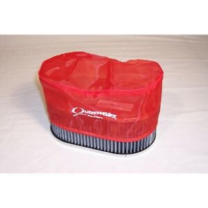 Outerwear Pre filter 4 5 X 7 Oval 3 5 Tall Red Dunebuggy Vw