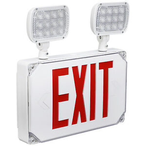 Wet Location Outdoor Led Red Exit Sign Light With Adjustable Heads
