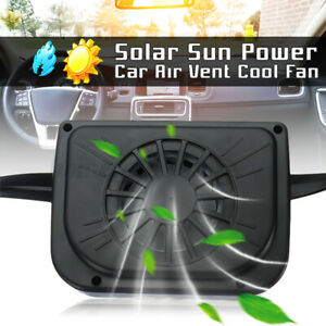 Solar Powered Car Window Windshield Auto Air Vent Cooling Fan Cooler Radiator Us