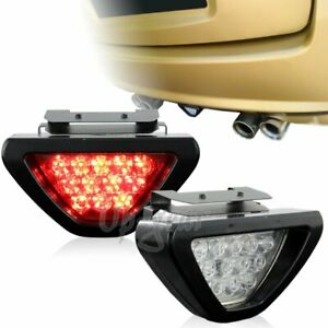 Universal Red Led Clear Lens F1 Style Bolt On Rear Third Brake Light Stop Lamp