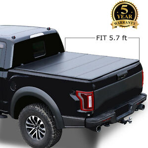 5 5 Hard Tri Fold Bed Cover For 09 18 Dodge Ram 1500 Pickup Truck