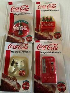 """COCA-COLA""""MAGNETS- 4 - NEW OLD STOCK NEVER OPENED"""