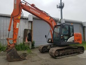 2014 Hitachi Zx130 5 Excavator Heat ac Rear Camera Aux Hyd Quick Coupler In Ny