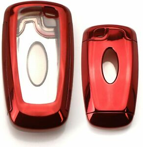 Red Tpu Key Fob Protective Case For 17 up Ford Edge Fusion 18 up Mustang F 150