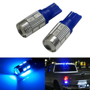 Blue 921 912 920 168 T10 10 Smd Led Replacement Bulbs For Truck 3rd Brake Lights