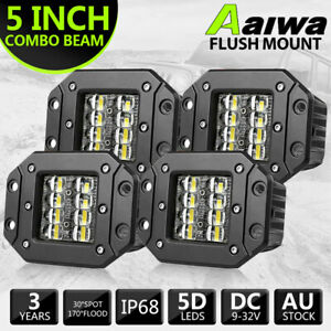 New 8 inch Led Work Light Bar Flood Spot Beam Offroad 4wd Suv Driving Fog Lamp