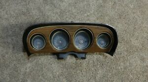 1969 1970 Ford Mustang Coupe Grande Deluxe Woodgrain Dash Gauge Cluster Fastback