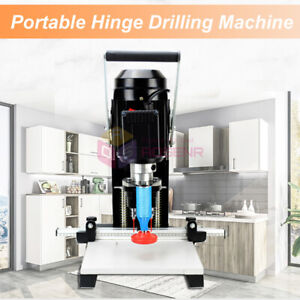 Woodworking Portable Hinge Drilling Hole Machine Wood Hinge Drill Puncher 110v