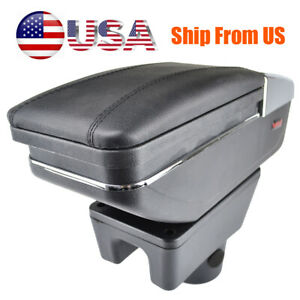 Armrest Central Console Box Storage For Mitsubishi Attrage Mirage Soft Leather