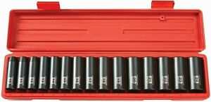 15 Piece 10 24 Mm Tekton 1 2 Inch Drive Deep 6 Point Impact Socket Set 4883