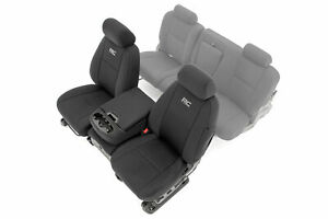 Rough Country Neoprene Front Seat Covers For 07 13 Chevy Silverado 1500 11 13