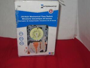 Intermatic T103 120 volt Dpst 24 Hour Mechanical Time Switch New Open