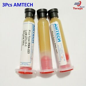 Amtech Rma 223 uv 10cc No clean Soldering Solder Paste Flux With Repair Tool