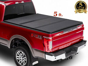5 58 6 59 5 For 05 19 Nissan Frontier Pickup Truck Hard Tri Fold Bed Cover