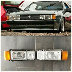 Oem Vw Scirocco Mkii Euro Lamps Headlights Hella Mk2 Set Rare Turn Signals