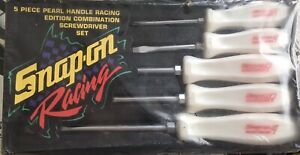 Snap On Racing Vintage Pearl Handle 5pc Screwdriver Set New In Wrapper