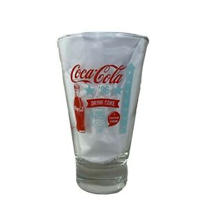 Coca-Cola Drinking Glass Say Yes! Choose Coke 1986 Classic Design Official Repro