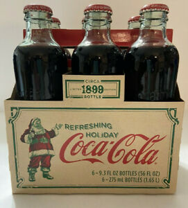 2007 Limited Edition Holiday Coca-Cola 6 pack Bottles Sealed in Carton