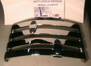 1930 1931 Model A Ford Rear Chrome Bumper Set With Stainless Steel Hardware