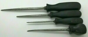 4pc Snap On Set Lot Awl Scratch Pic Pick Scribe Stubby Black Screwdriver Handle